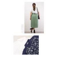 大きいサイズ レディース オパール花柄切替ブラウス|clette-online|06