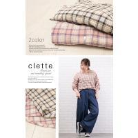 大きいサイズ レディース 袖タックデザインチェック柄ブラウス|clette-online|06