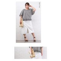 大きいサイズ レディース 裾スカラップスモックブラウス|clette-online|04