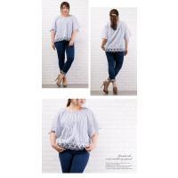 大きいサイズ レディース 裾スカラップスモックブラウス|clette-online|05