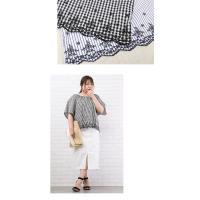 大きいサイズ レディース 裾スカラップスモックブラウス|clette-online|06