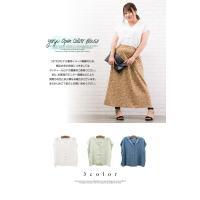 大きいサイズ レディース 楊柳開襟ブラウス clette-online 03