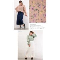 大きいサイズ レディース シャーリングネック花柄ブラウス|clette-online|04