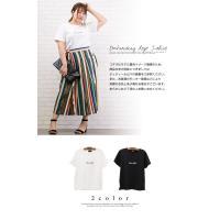 大きいサイズ レディース 刺繍ロゴTシャツ|clette-online|03