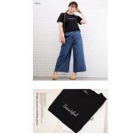 大きいサイズ レディース 刺繍ロゴTシャツ|clette-online|04