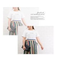 大きいサイズ レディース 刺繍ロゴTシャツ|clette-online|08
