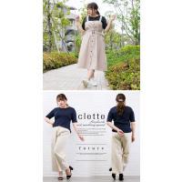 大きいサイズ レディース コットンフライス五分袖Tシャツ|clette-online|05