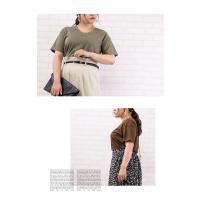 大きいサイズ レディース コットンリネンVネックTシャツ|clette-online|08