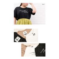 大きいサイズ レディース バックポイントロゴプリントTシャツ|clette-online|05