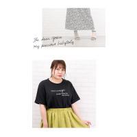 大きいサイズ レディース バックポイントロゴプリントTシャツ|clette-online|08
