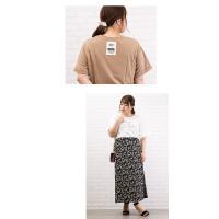 大きいサイズ レディース バックポイントロゴプリントTシャツ|clette-online|09
