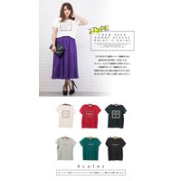 大きいサイズ レディース クルーネック半袖プリントTシャツ clette-online 03