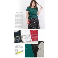 大きいサイズ レディース クルーネック半袖プリントTシャツ clette-online 05