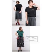 大きいサイズ レディース クルーネック半袖プリントTシャツ clette-online 07