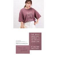 大きいサイズ レディース 前後ロゴプリントビッグTシャツ|clette-online|05