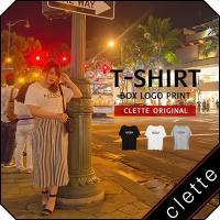 大きいサイズ レディース cletteオリジナル★ボックスロゴプリントTシャツ clette-online