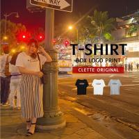 大きいサイズ レディース cletteオリジナル★ボックスロゴプリントTシャツ clette-online 02