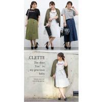 大きいサイズ レディース cletteオリジナル★ボックスロゴプリントTシャツ clette-online 09