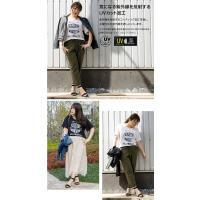 大きいサイズ レディース cletteオリジナル★UVカットエンブレムプリントトTシャツ|clette-online|05
