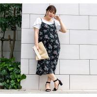大きいサイズ レディース 花柄キャミソールワンピース clette-online 08
