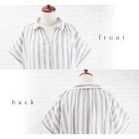 大きいサイズ レディース 半袖ロングシャツワンピース|clette-online|07