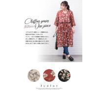 大きいサイズ レディース 花柄シフォンガウンワンピース clette-online 03