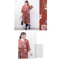 大きいサイズ レディース 花柄シフォンガウンワンピース clette-online 06