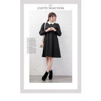 大きいサイズ レディース 襟付ケーブルジャガードワンピース|clette-online|04