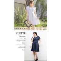 大きいサイズ レディース ビジュー付ハートネックワンピース|clette-online|05
