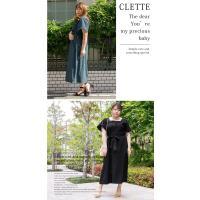大きいサイズ レディース cletteオリジナル★スクエアネックワンピース clette-online 08