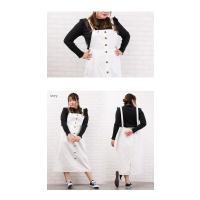 大きいサイズ レディース ジャンパースカートデザインワンピース|clette-online|05