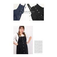 大きいサイズ レディース ジャンパースカートデザインワンピース|clette-online|06