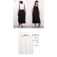 大きいサイズ レディース ジャンパースカートデザインワンピース|clette-online|07