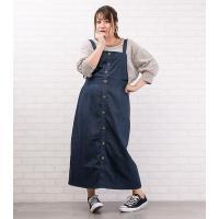 大きいサイズ レディース ジャンパースカートデザインワンピース|clette-online|08