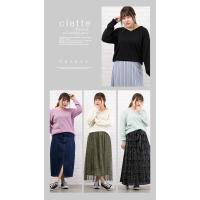 大きいサイズ レディース 2WAY長袖ベーシックニット|clette-online|05