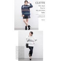 大きいサイズ レディース ノルディック柄ジャガードニット|clette-online|05