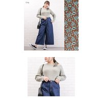 大きいサイズ レディース スカーフ使いワンショルダーニットプルオーバー clette-online 05