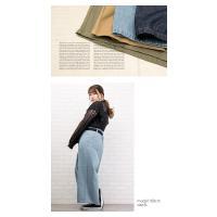 大きいサイズ レディース ベルト付フロントタックワイドパンツ|clette-online|08