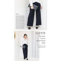 大きいサイズ レディース ニットワイドパンツ|clette-online|05