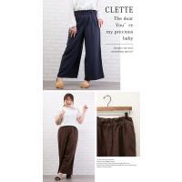 大きいサイズ レディース リネンワイドパンツ|clette-online|04