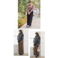 大きいサイズ レディース 裾スカラップケーブルニットワイドパンツ|clette-online|07