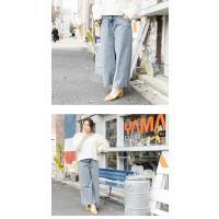 大きいサイズ レディース cletteオリジナル★デニムワイドパンツ|clette-online|04