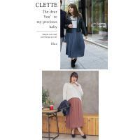 大きいサイズ レディース cletteオリジナル★ロングプリーツスカート|clette-online|06