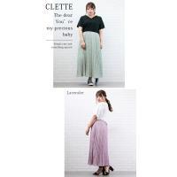 大きいサイズ レディース 小花柄プリーツスカート|clette-online|05