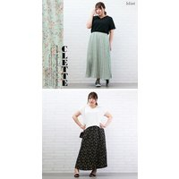 大きいサイズ レディース 小花柄プリーツスカート|clette-online|08