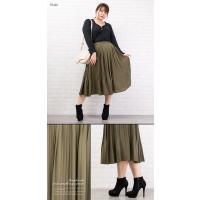 大きいサイズ レディース ウエストゴム消しプリーツスカート|clette-online|05