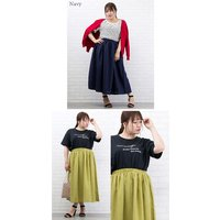 大きいサイズ レディース リネン風シャンブレーロングスカート|clette-online|07