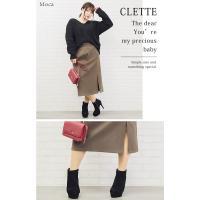大きいサイズ レディース ボタンデザインスリット入タイトスカート|clette-online|07