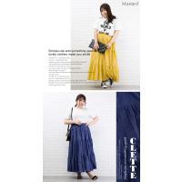 大きいサイズ レディース コットンボイルティアードロングスカート clette-online 08