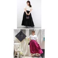 大きいサイズ レディース コットンボイルティアードロングスカート clette-online 09